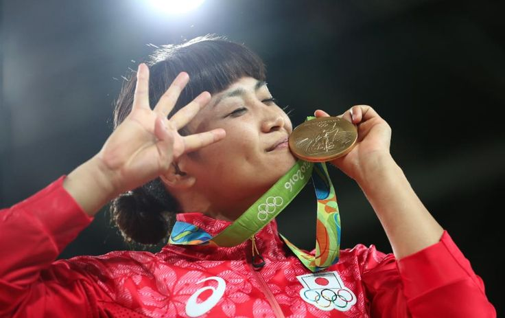 She's the first woman to win four straight individual golds and the most decorated wrestler of all time. #Wrestling