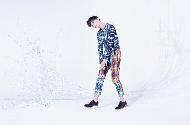 Pawel Gralevitz for And Men by Agata Mendziuk  Styling: AsiaWysoczyńska&EwaCylwik | DIFERENTE Fashion Services  Longsleve: Balenciaga Trousers: Mrzygłód Shoes: KAZAR