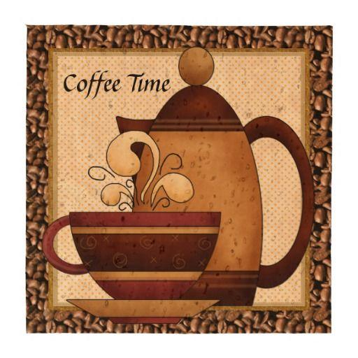 Coffee Time fun cork coaster
