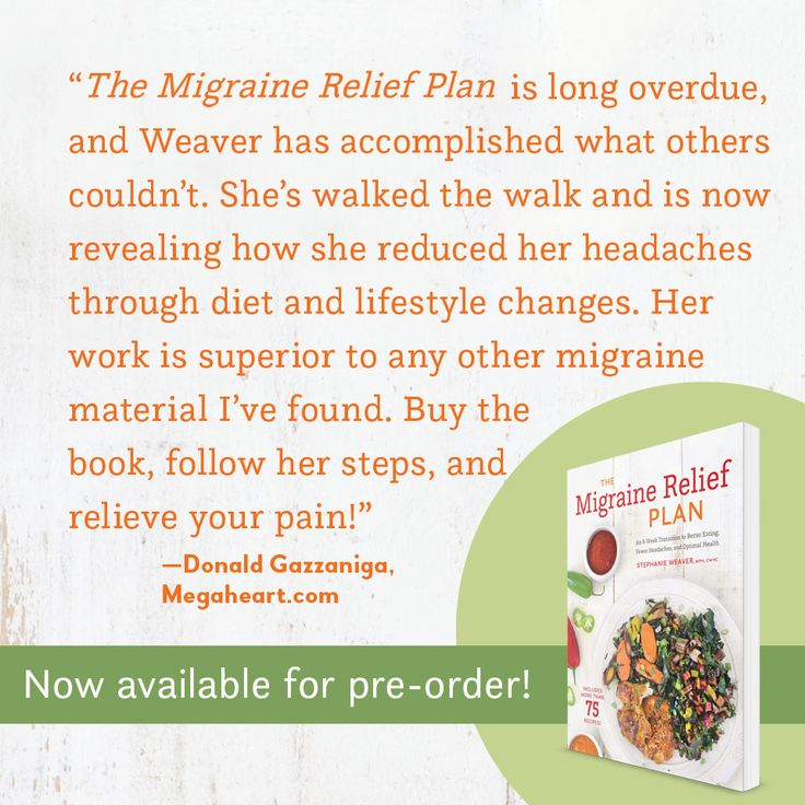Wonderful endorsement for The Migraine Relief Plan from the founder of Megaheart.com, top salt-free recipe site online.