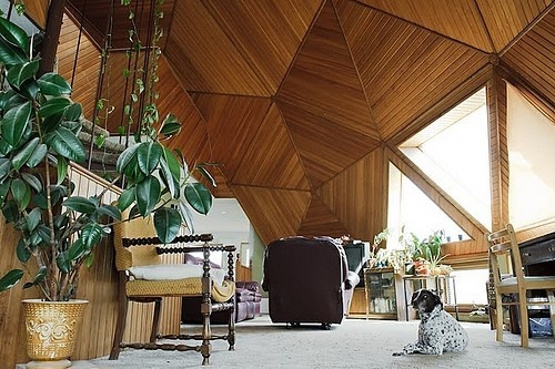 Geodesic dome house interior