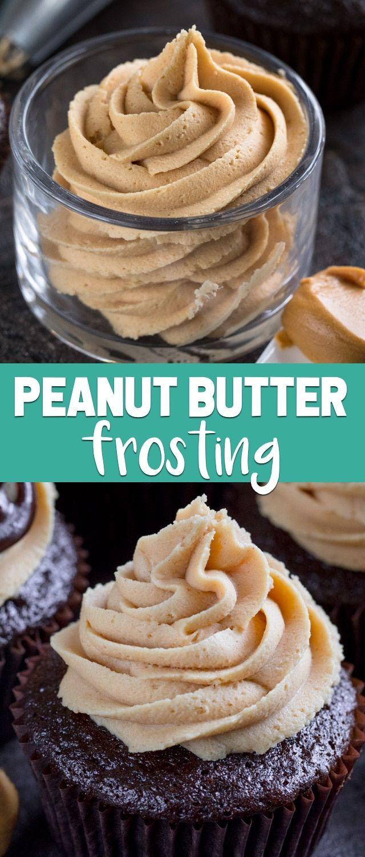 Dieses einfache Erdnussbutter-Zuckerguss-Rezept ist eine Buttercreme von Grund auf …