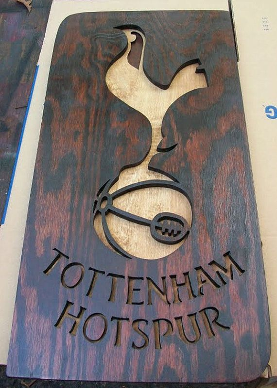 Tottenham Hotspur wooden sign