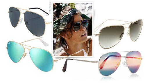 Shopping lunettes de soleil pilote aviateur printemps-été 2014