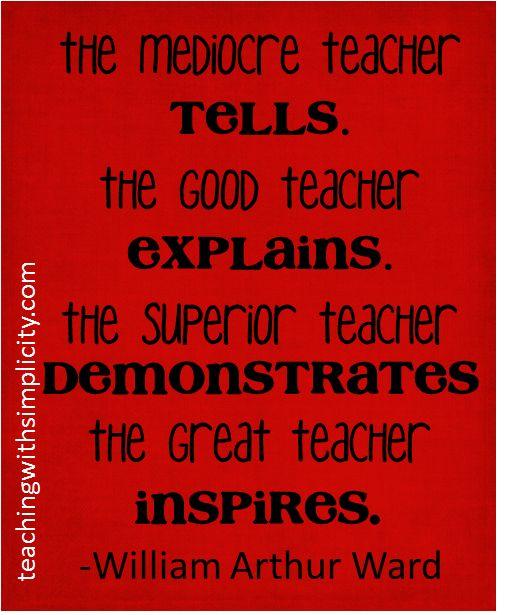 Great teachers inspire #motivation for teachers
