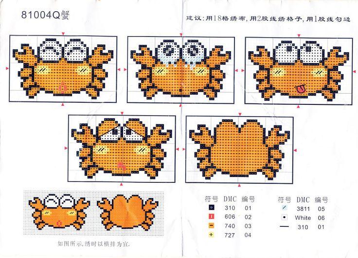 patrones de llaveros a punto de cruz   Aprender manualidades es facilisimo.com