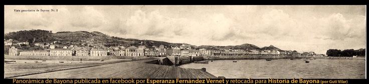 Antigua panorámica de la villa de Bayona