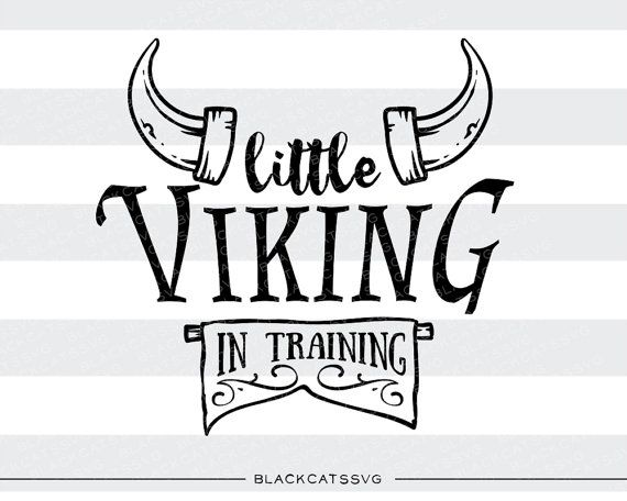 Little viking in training SVG file Cutting File by BlackCatsSVG