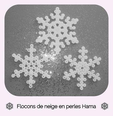 Gabulle in wonderland : flocons de neige en perles Hama (snowflakes, hama beads)