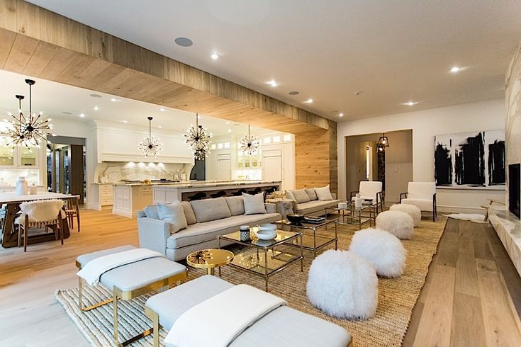 bryan baeumler house pictures - love the floors and great room concept. also, like how they carried floor onto walls and ceiling
