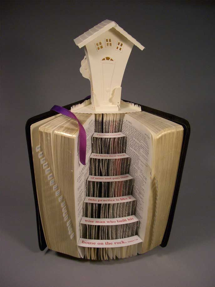 "paper art book | Domestic Tranquility"" - Altered book"