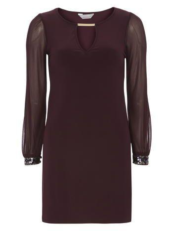 Petite Embellished Cuff Dress