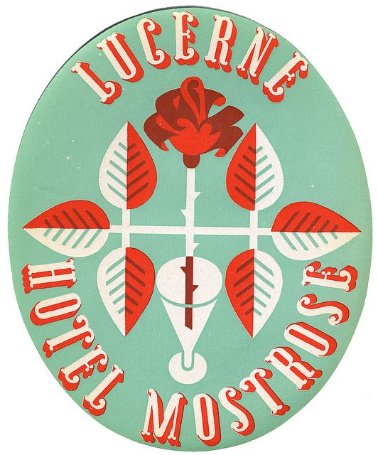 by Art of the Luggage Label, via FlickrHotels Mostros, Colors, Art, Luggage Labels, Travel Tips, Graphics Design Posters, Lucerne Hotels, Vintage Luggage, Travel Guide