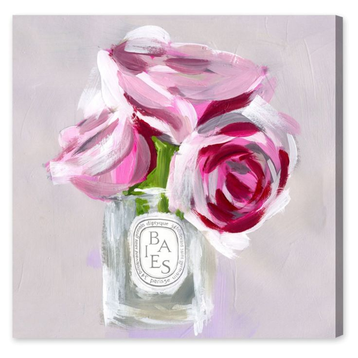 Oliver Gal Rose Candle Canvas Wall Art - 17444_16X16_CANV_XHD