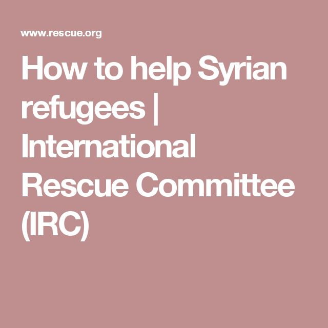 How to help Syrian refugees | International Rescue Committee (IRC)
