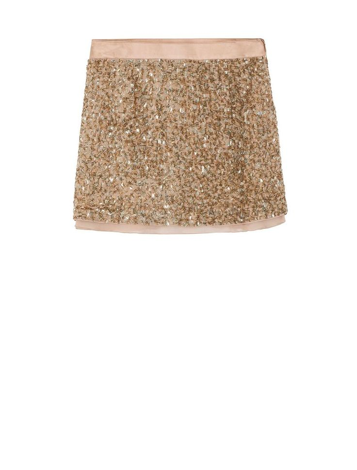 Mini-skirt with sequinned embroidery