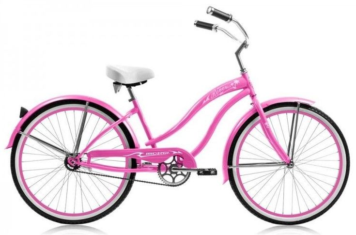 Women's Beach Cruiser Bicycle One Speed Steel Frame 26 inch Coaster Brakes Pink #MicargiBicycles