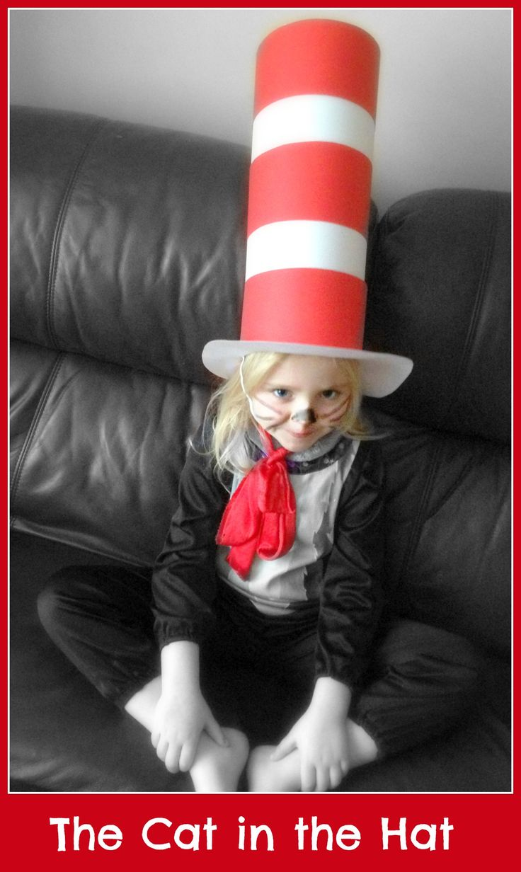 The Cat in the Hat - a really easy and cheap costume to make for World Book Day