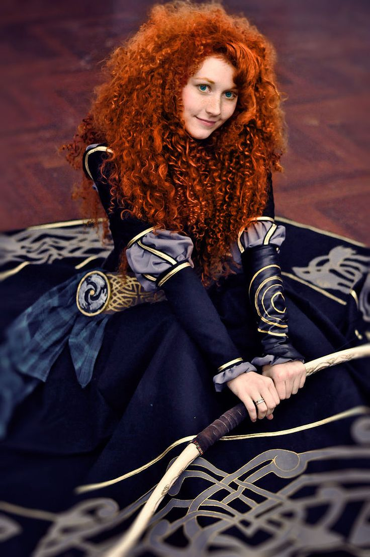 Merida - black dress by Zoisite-Virupaksha.deviantart.com on @deviantART (...and that is her actual hair...not a wig!)