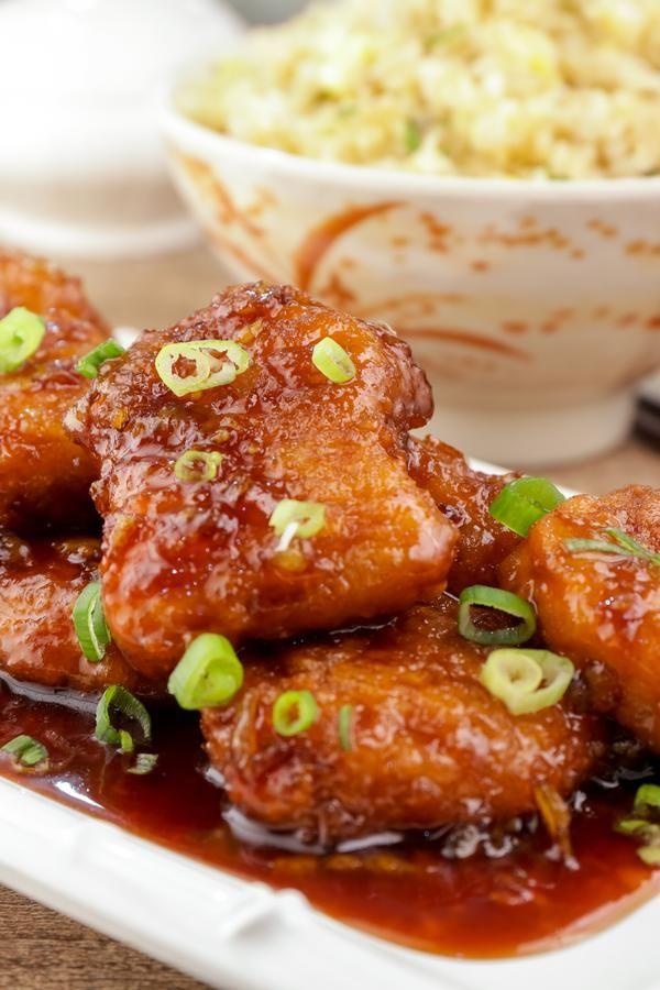 5 ingredient orange chicken easy chinese food best chicken dinners orange chicken in 2020 easy chinese recipes homemade chinese food orange chicken recipe tasty pinterest