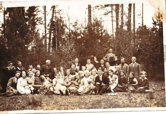 Vintage Photo  Family Photo  Wedding  Forest  by MirrorsOfTime