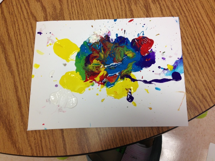 Today, in my first grade classroom, we were studying Push/Pull and invisible forces. So, we dabbed watered down paint on a blank sheet of paper and used a straw to blow (invisible force) the paint across the paper. They also tried mixing the colors together. They enjoyed and it helped them learn that all forces aren't a visible action.