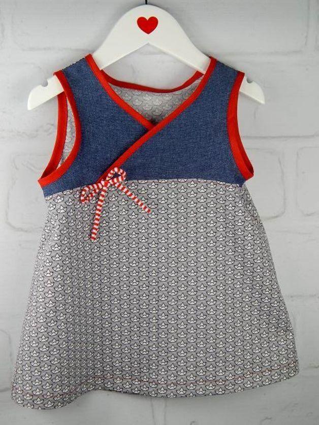 Kleider - Kleid Tunika Mädchen maritim Wunschgröße - ein Designerstück von Herzdiebe bei DaWanda