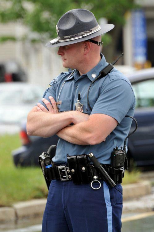 Cop in uniform gay bondage feeding aiden a 4
