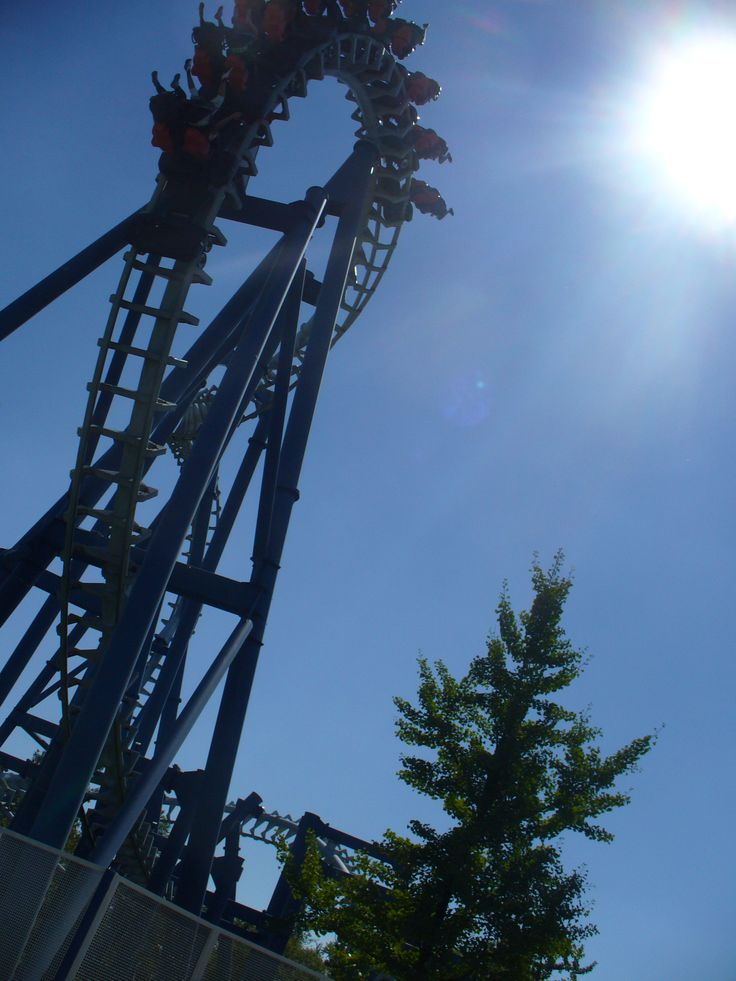 """roller coaster at garda land! i went on the """"blue tornado"""" 12 times! wow i had a headach after wards"""