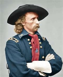 General Custer in the later part of the Civil War.