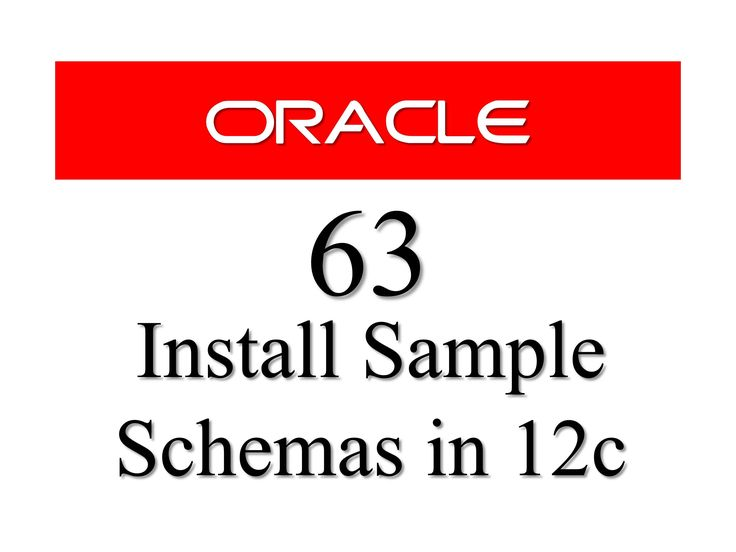 Oracle Database Tutorial 63: How to install sample schemas / users in Oracle database 12c. Learn how to install hr,sh,oe users or schemas in oracle 12c