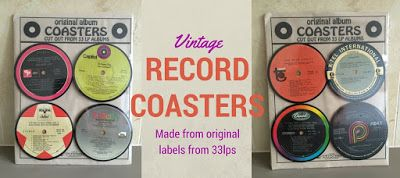 PRODUCT OF THE WEEK: Vintage Record Coasters - made from the labels of original 33LPs. Each set is completely unique - a great way of adding some colour to your table and a fabulous gift for music lovers.  #coasters #fathersdaygift #mensgifts