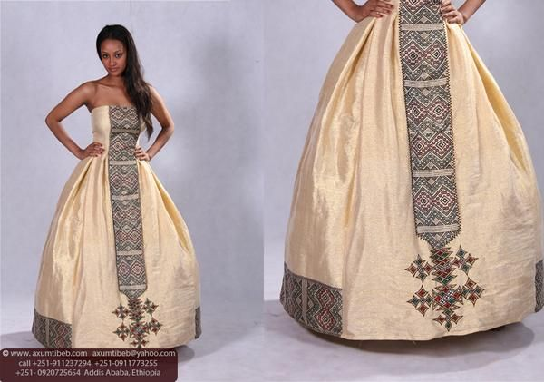 This traditional habesha dress is perfect for your for Habesha dress for wedding
