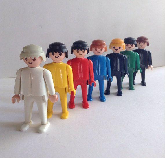 1974 Playmobil Geobra Figures set of 7 by GirlyStuffByDeJaVu, $18.95