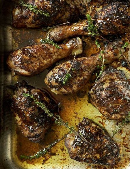 @Gordon Ramsay Jerk Chicken.  Although I would say grilled is optimal, this will probably work will grilling is not an option (i.e. snow, rain, cold etc.).