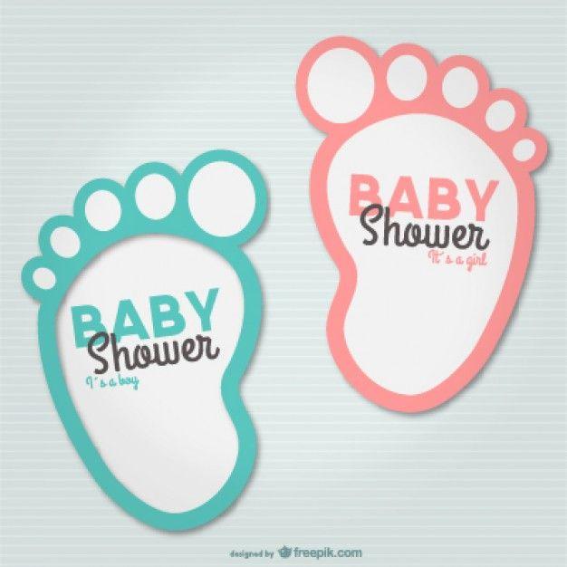 Invitaciones para baby shower gratis | Descargar Vectores gratis