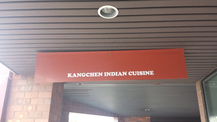 Kangchen indian cuisine restaurant sign done by monarch