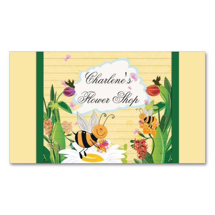 bumblebees flowers gardens double sided standard business cards pack of make your own business card with this great design all you need is to add your