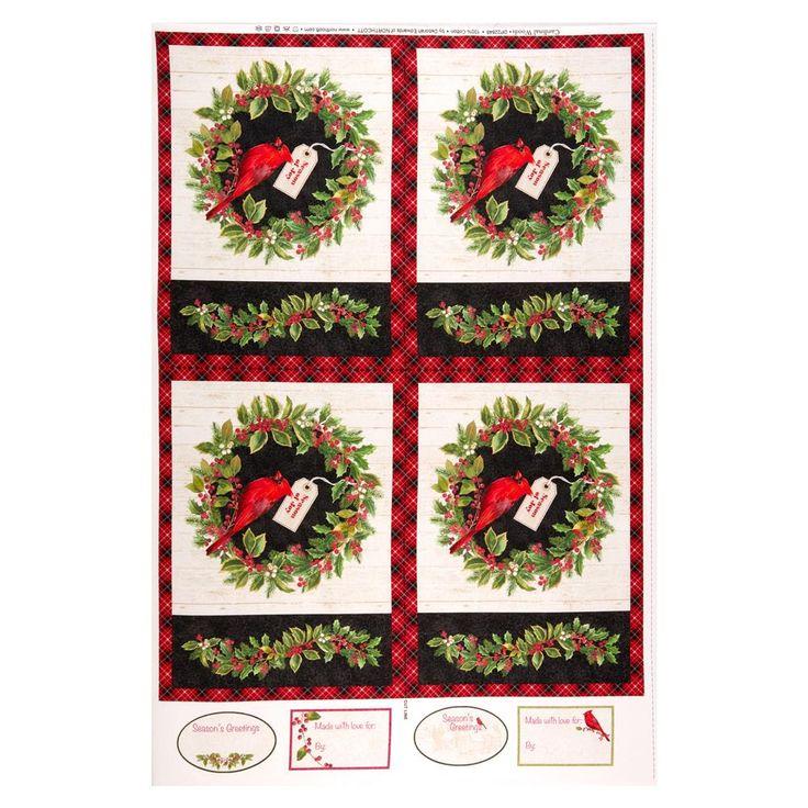 Northcott Cardinal Woods Placemat 28″ Panel Cream/Multi