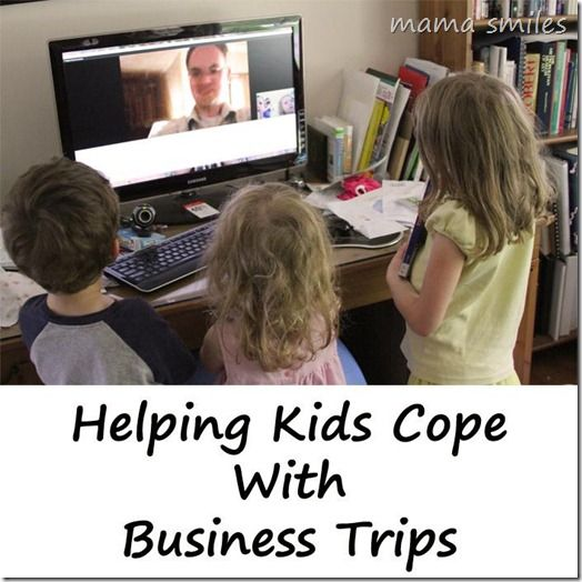 Sometimes jobs mean that parents have to travel. Here are some simple ways to help kids cope. #parenting