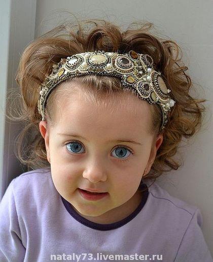 """Купить ободок """"Феличе"""" - ободок, ободок для волос, обруч для волос, Вышивка бисером, обруч с жемчугом"""
