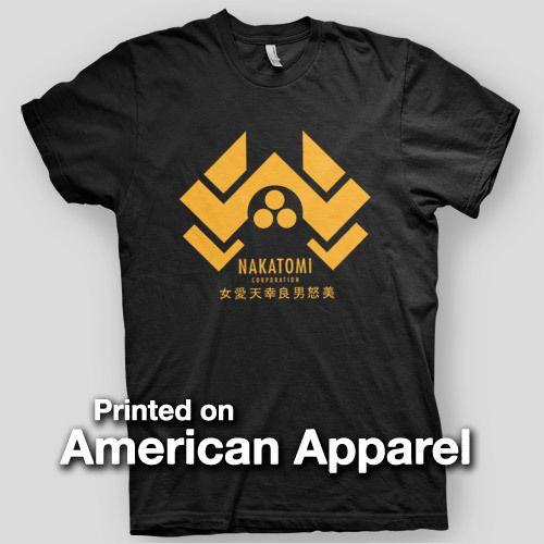 NAKATOMI PLAZI Willis DIE HARD McClane Hans Gruber HERO AMERICAN APPAREL T-Shirt 100% Cotton Men Women T Shirt Tees Custom