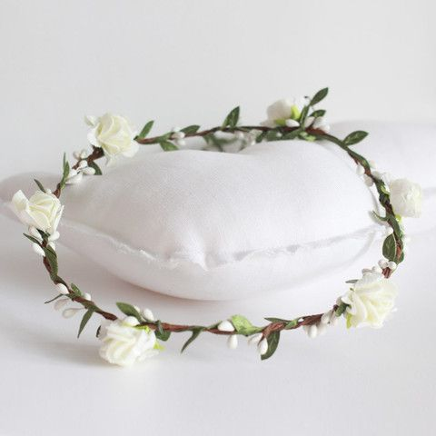 Corona De Flores Blancas Para Comuni 243 N Comunion Paula