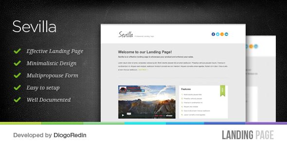 Sevilla Landing Page - ThemeForest Item for Sale