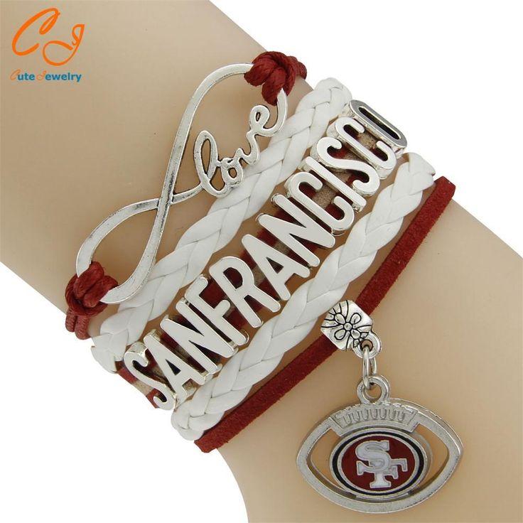 NFL San Francisco 49ers Multi-Strand Friendship Infinity Charm Bracelet Sports Football Team Drop Shipping