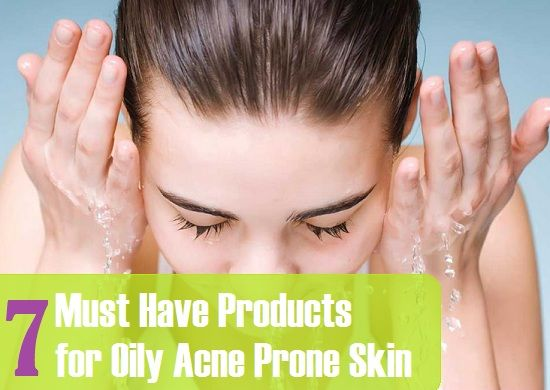 Face cleansers, scrubs, face packs, pimple creams are some must have products for oily acne prone skin that prevents pimples, acne, zits and break outs