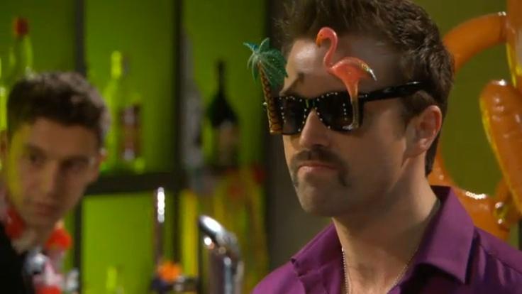 Brendon in last night's Hollyoaks.