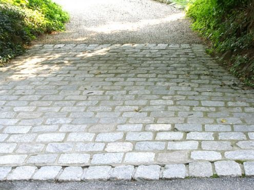 Driveway Design Ideas find this pin and more on decks yard by rebeccastodolas green driveway ideas Cobblestone Driveway Used At Entry See More Creative Driveway Design Ideas Here Http