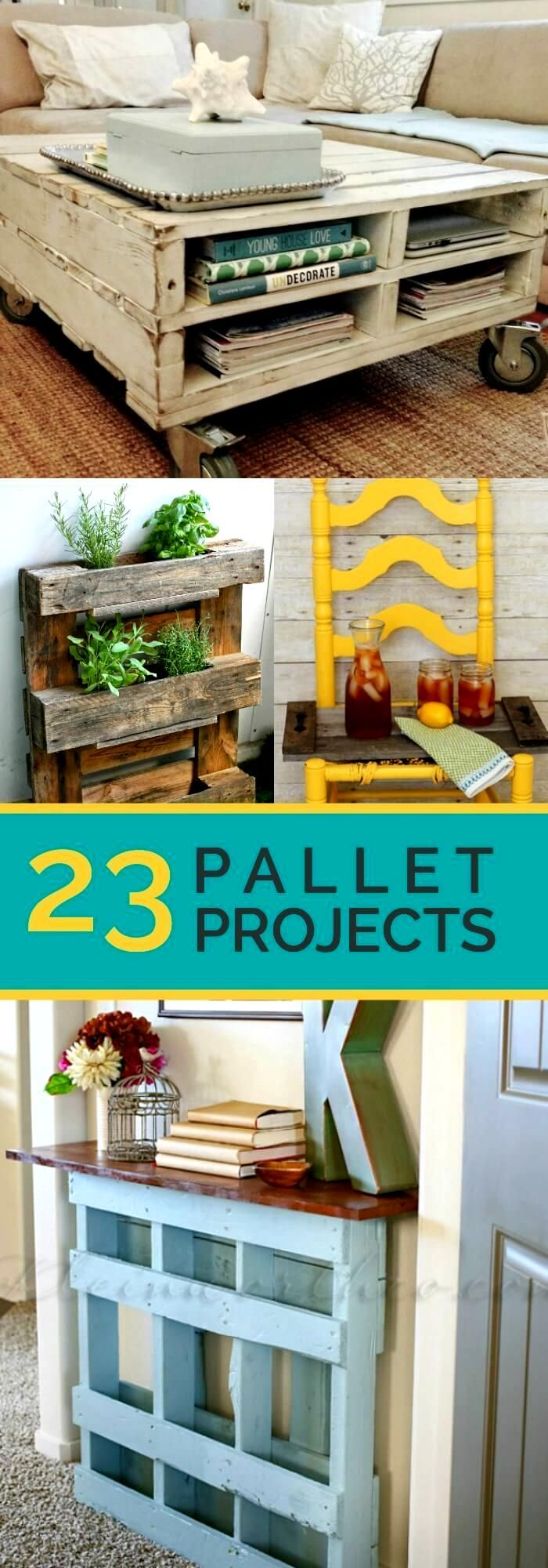 23 Awesome Diy Wood Pallet Ideas A Creative Side Of Me I Didn T Even Know Existed A Few Weeks Ago Pallet Decor Wooden Pallet Projects Wood Pallet Projects