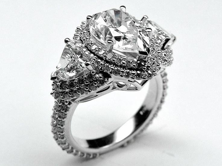 Pear Shaped Engagement Ring Setting Only